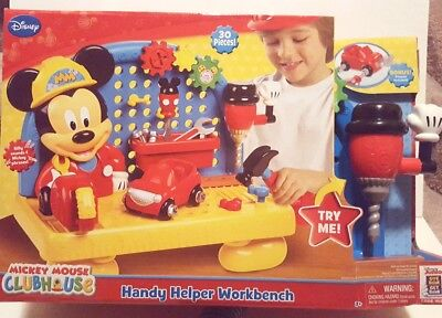 MICKEY MOUSE Clubhouse Handy Helper Workbench Tools Pretend Play Disney Toy