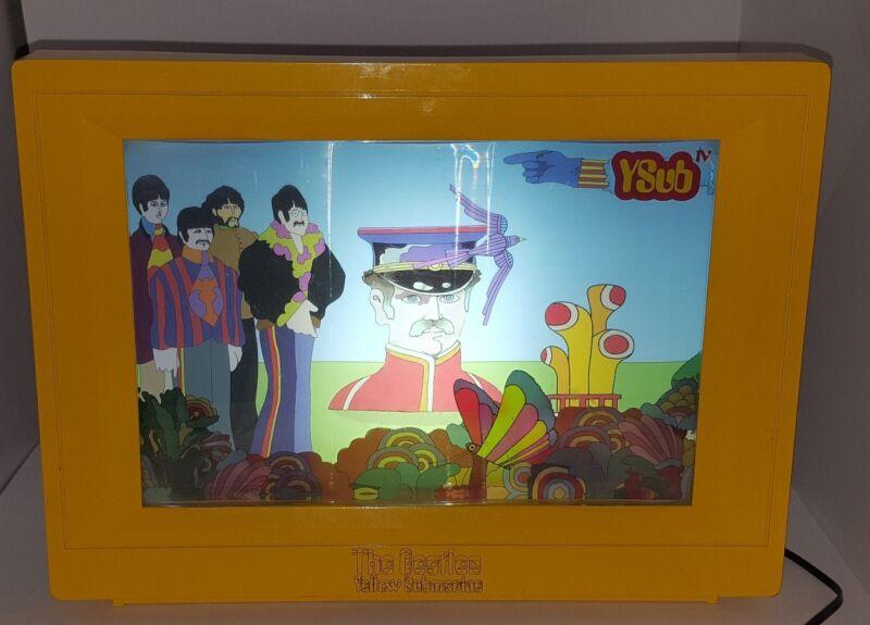 Rare The Beatles Yellow Submarine VIRTUAL VISION YSUB TV Screen 2004 Works Light
