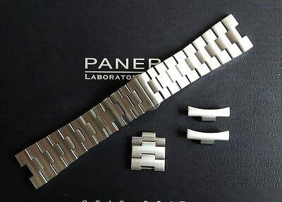 OEM Officine Panerai Luminor 24mm PRNK code Brushed Stainless Steel Bracelet.