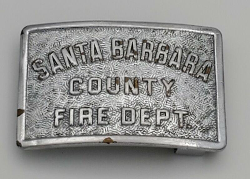 Vintage Santa Barbara County Fire Department SBCFD Belt Buckle Sun Badge Company