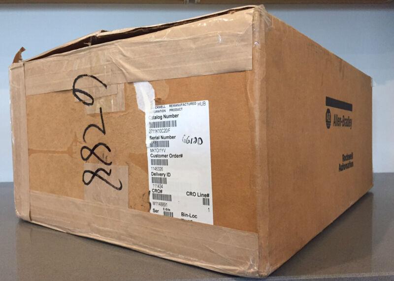 New Allen Bradley 2711-K10C20 /F FRN 4.46 PanelView 1000 Color/Key/Ethernet