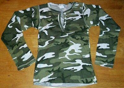 NEW Camouflage Long Sleeve Shirt Top Girls Size 10-12 Medium So Nikki...Clothes