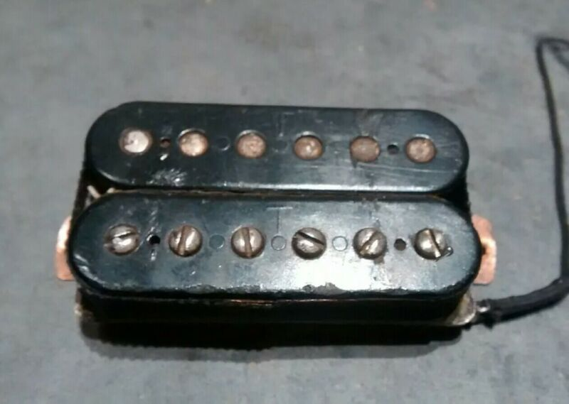 60s Vintage Gibson T Top Patent Number Sticker PAF Humbucker Guitar Pickup 7.69k