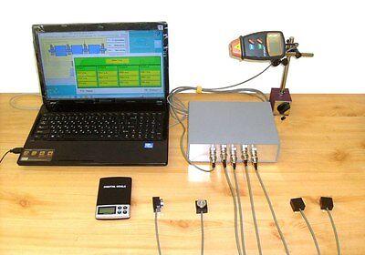 Field Portable Dynamic Balancing Machine Balanset-4 Vibrometer Analyzer