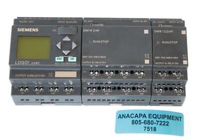Siemens Logo Logic Module 24rc Dm16 24r Dm8 1224r Used 7518 W
