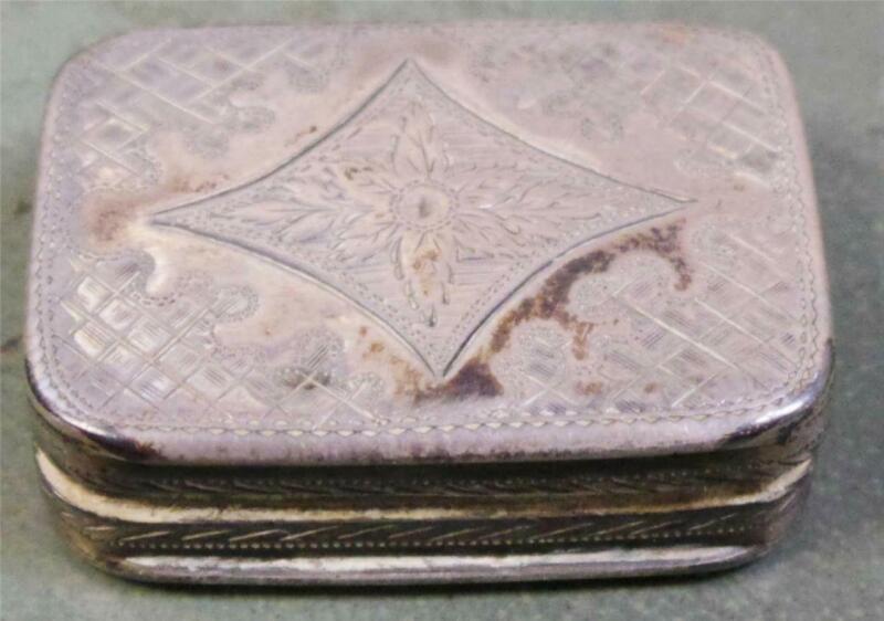 1799 Antique English Vinaigrette Perfumer Gold Washed Sterling Silver Box