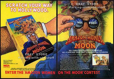 Amazon Women On The Moon  Original 1988 Trade Ad   4Pg Movie Promo  John Landis