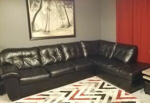 Like New Bonded Leather Sectional!