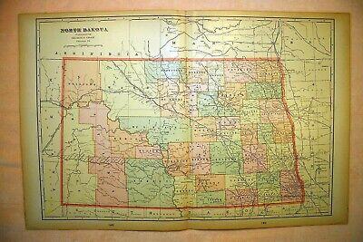 SOUTH DAKOTA c.1997 Rand-McNally state map: NORTH DAKOTA highway paper