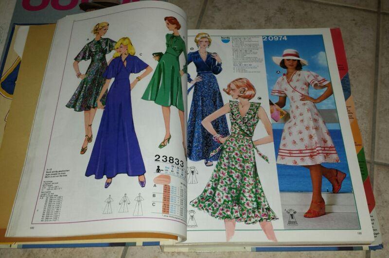 BURDA - SCHNITTE, 2 Modekataloge 1978/79 und 1985/86 , jeweils ca. 700 Seiten