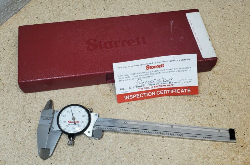 "Starrett No. 120 - 6"" dial caliper in protective case"