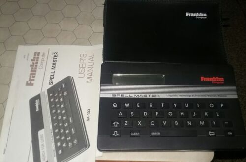 Franklin Computer Spell Master Model SA-103 w/ Storage Case + Manual - Working!