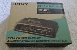 Sony Dream Machine Clock Radio AM/FM Alarm Model ICF-C25 Brand New