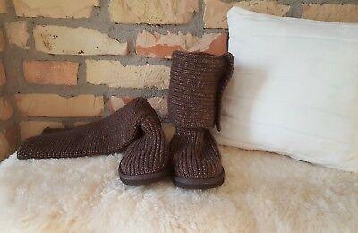 UGG Australia Boots Strick Stiefel Gr. 40 braun wie NEU Must Have