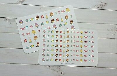 Mermaid Planner Stickers- Perfect For Any Planner- Summer, Swimming](Crafts For Summer)