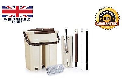 Mop Wash & Dry Flat & Bucket Cleaning System for all Floors Wash Mop