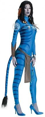 Ladies Blue Avatar Neytiri Film Halloween Fancy Dress Costume Outfit UK 6-18 - Blue Avatar Costume