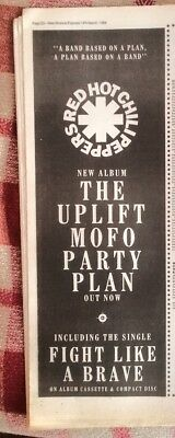 RED HOT CHILI PEPPERS 'Mofo Party Plan' 1988 Poster size Press ADVERT 16x6 inch