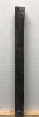 """1.5"""" X 18- 19"""" GABOON EBONY POOL CUE BLANKS, TURNING WOOD, GUN KNIFE SCALES"""