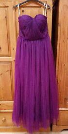 X2 Cadbury purple bridesmaid dress size 8-12 corset back