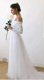 Ivory off the shoulder Wedding dress