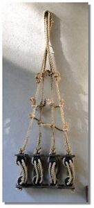 Tall Ships RIGGING HEMP ROPE sailing ship boat wall decor old style NEW designer