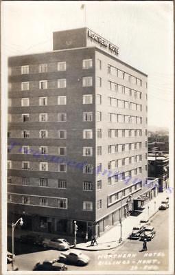 1930s Billings Montana Northern Hotel Birdseye Street View Real Photo Postcard