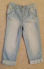 Girls 12-18 months trousers worn once