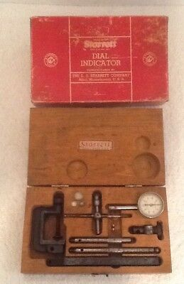 Vintage Starrett Dial Test Indicator No. 196a - Original Wooden Box
