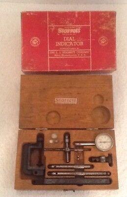 Vintage Starrett Dial Test Indicator No. 196a - Original Wooden Box
