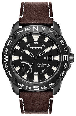 Citizen Eco-Drive Men's AW7045-09E PRT Rotating Compass Bezel Black 44mm Watch