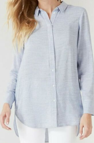 NEW WOMEN'S THE WHITE COMPANY PALE BLUE BUTTON UP BOYFRIEND SHIRT US 6 – VISCOSE Clothing, Shoes & Accessories