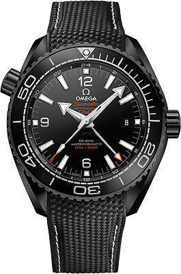 New Omega Seamaster Planet Ocean Deep Black Mens Watch 215.92.46.22.01.001