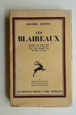 LEONIDE LEONOV Les Blaireaux 1931 EO de la traduction ENVOI traducteur RUSSIE