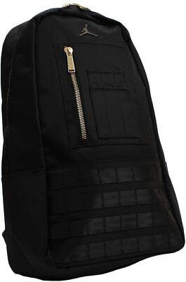 Nike Air Jordan MA-1 Backpack Black Gold 9A0193-023 Unisex NWT