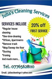 Julia's Cleaning Services Peterborough