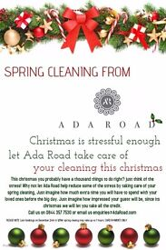 Christmas Deep cleaning from Ada Road