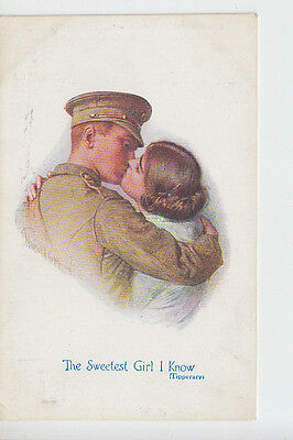 The Sweetest Girl I Know. Military Sweetheart postcard