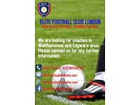 FOOTBALL COACHES IN EDGWARE & WALTHAMSTOW