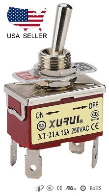 Heavy Duty Dpst On-off Toggle Switch 20a 125v 15a 250v Spade Terminals 21a
