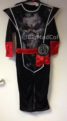 Halloween Boys Hologram Shadow Ninja & Mask Costume Black Samurai Warrior - Shadow Kostüm