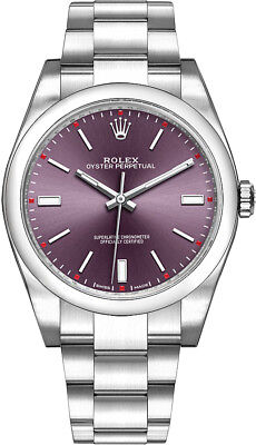 Rolex Oyster Perpetual 39 Red Grape Dial Oystersteel Men's Watch 114300-RDGSO
