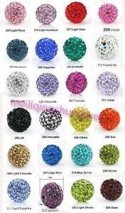 10pcs-Crystal-8MM-bead-FOR-Pave-Disco-Balls-U-choose-color