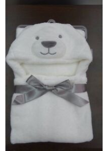 Hooded baby bath cozy towel/blanket