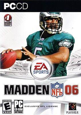 Computer Games - Madden 06 2006 PC Games Windows 10 8 7 XP Computer Games nfl football eagles