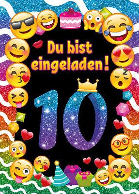 Einladungskarten Einladungen 10 Geburtstag zehnte Kindergeburtstag Mädchen