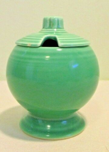 Fiestaware Vintage Green Covered Mustard Jar Fiesta Homer Laughlin HLC