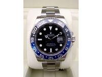 Brand New Rolex GMT Master II - Black & Blue Ceramic Bezel (Batman) 116710 BLNR