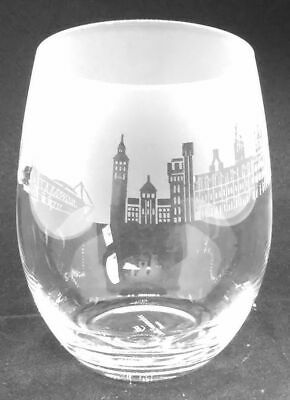CARDIFF SKYLINE Frieze Boxed 36cl Crystal Stemless Wine / Water Glass