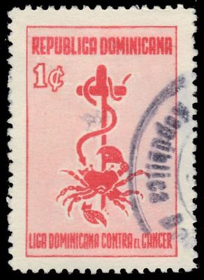 "DOMINICAN REPUBLIC RA18a - Dominican League Against Cancer ""Postal Tax"" (pf10720"